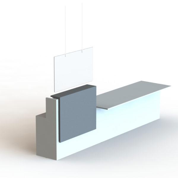 suspension en plexiglass, 60 x 105 cm