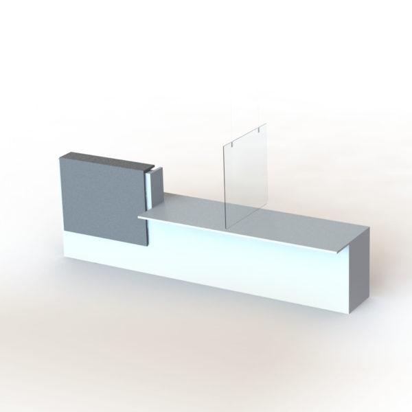 suspension en plexiglass, 80 x 80 cm